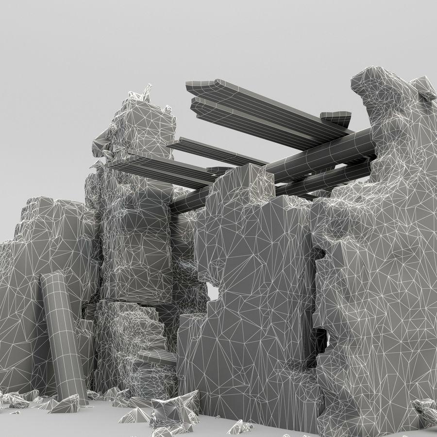 废墟塔 royalty-free 3d model - Preview no. 9