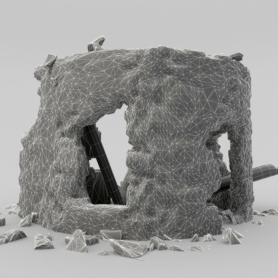 废墟塔 royalty-free 3d model - Preview no. 12