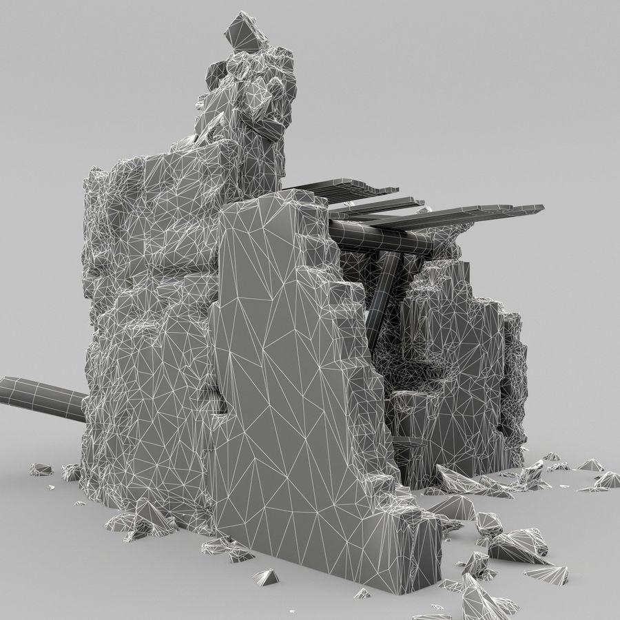 废墟塔 royalty-free 3d model - Preview no. 11