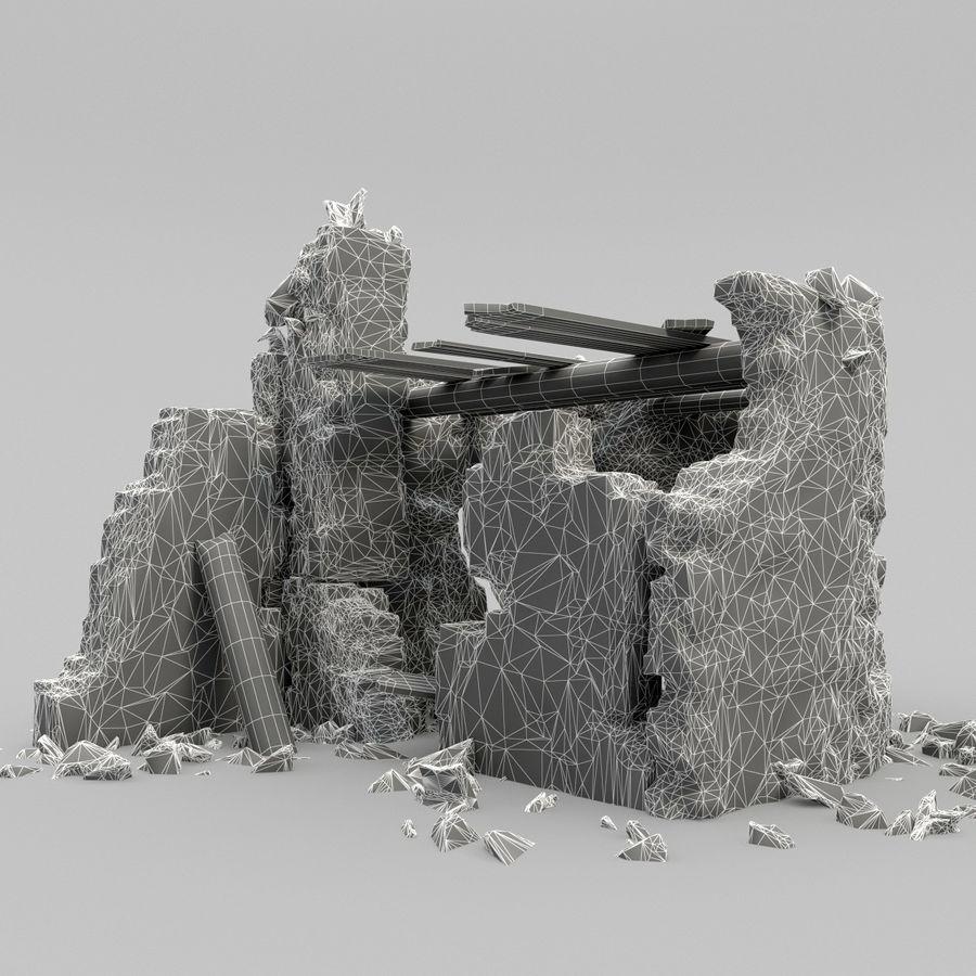 废墟塔 royalty-free 3d model - Preview no. 10
