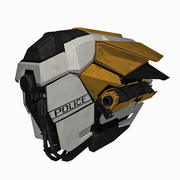 SciFi Police Patrol Spaceship - Sci-Fi Drone Spacecraft 3d model