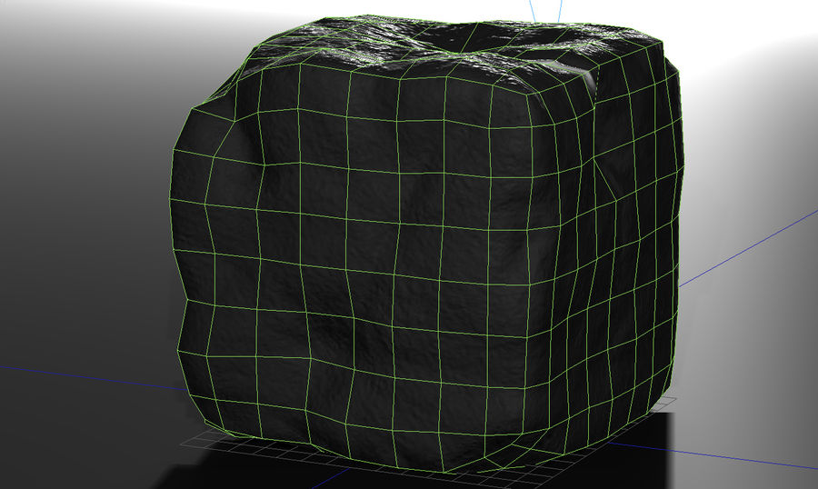 stone cube royalty-free 3d model - Preview no. 2