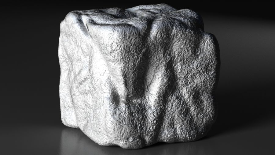 stone cube royalty-free 3d model - Preview no. 1