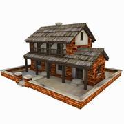 коттедж 3d model