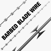 Barbed Blade Chain Wire 3d model