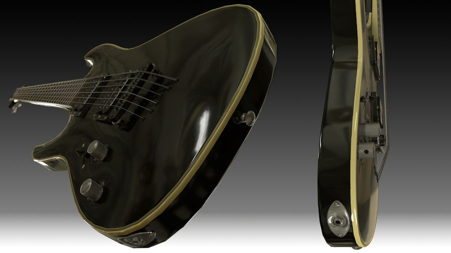 Guitarra elétrica royalty-free 3d model - Preview no. 3