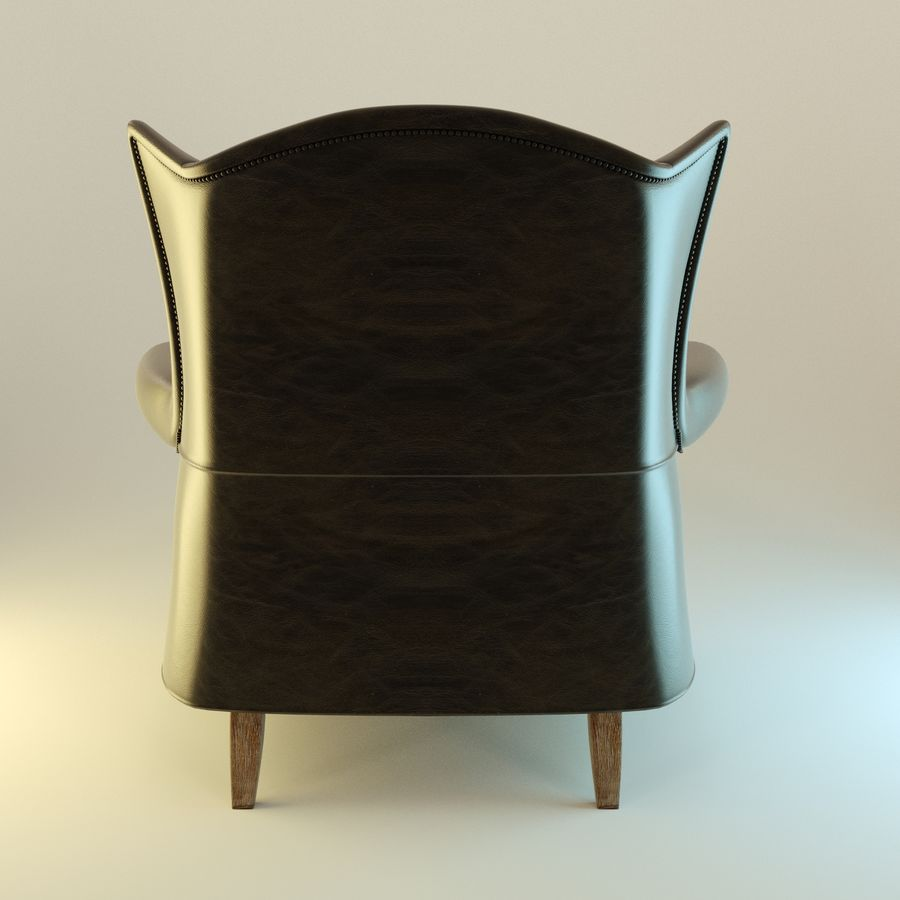 Black Leather armchair interior royalty-free 3d model - Preview no. 5