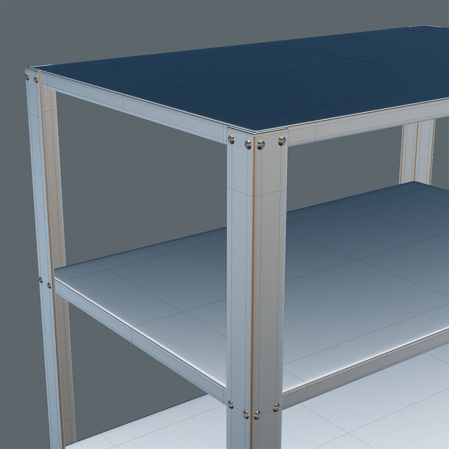 Medical Cart royalty-free 3d model - Preview no. 6