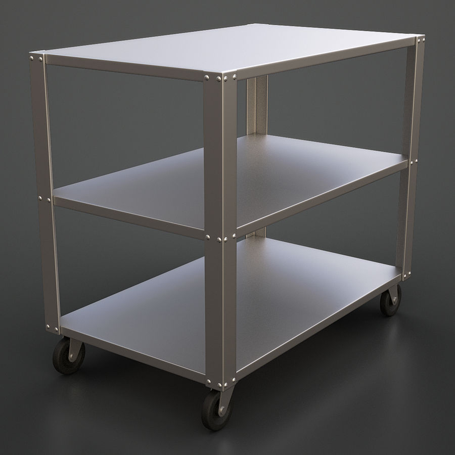 Medical Cart royalty-free 3d model - Preview no. 2