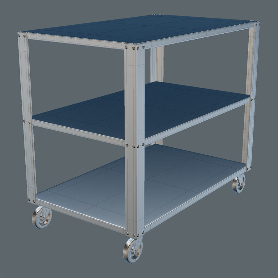 Medical Cart royalty-free 3d model - Preview no. 5