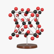 Model molekularny dwutlenku węgla 3d model