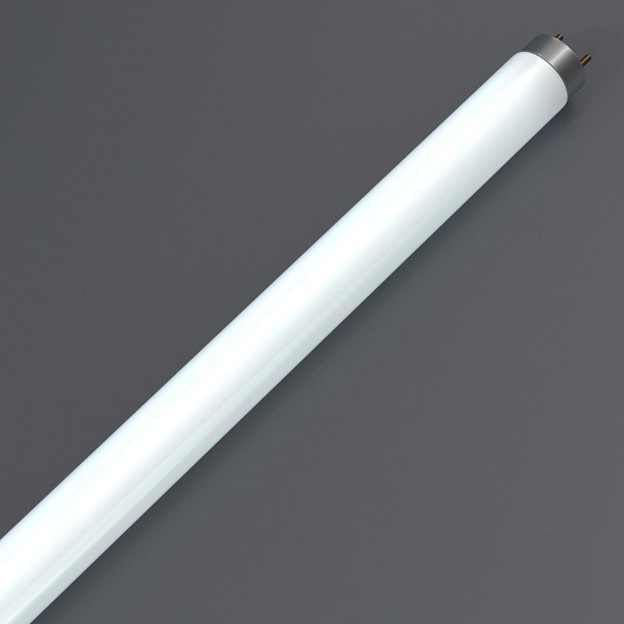 Bombilla fluorescente de luz de tira royalty-free modelo 3d - Preview no. 8