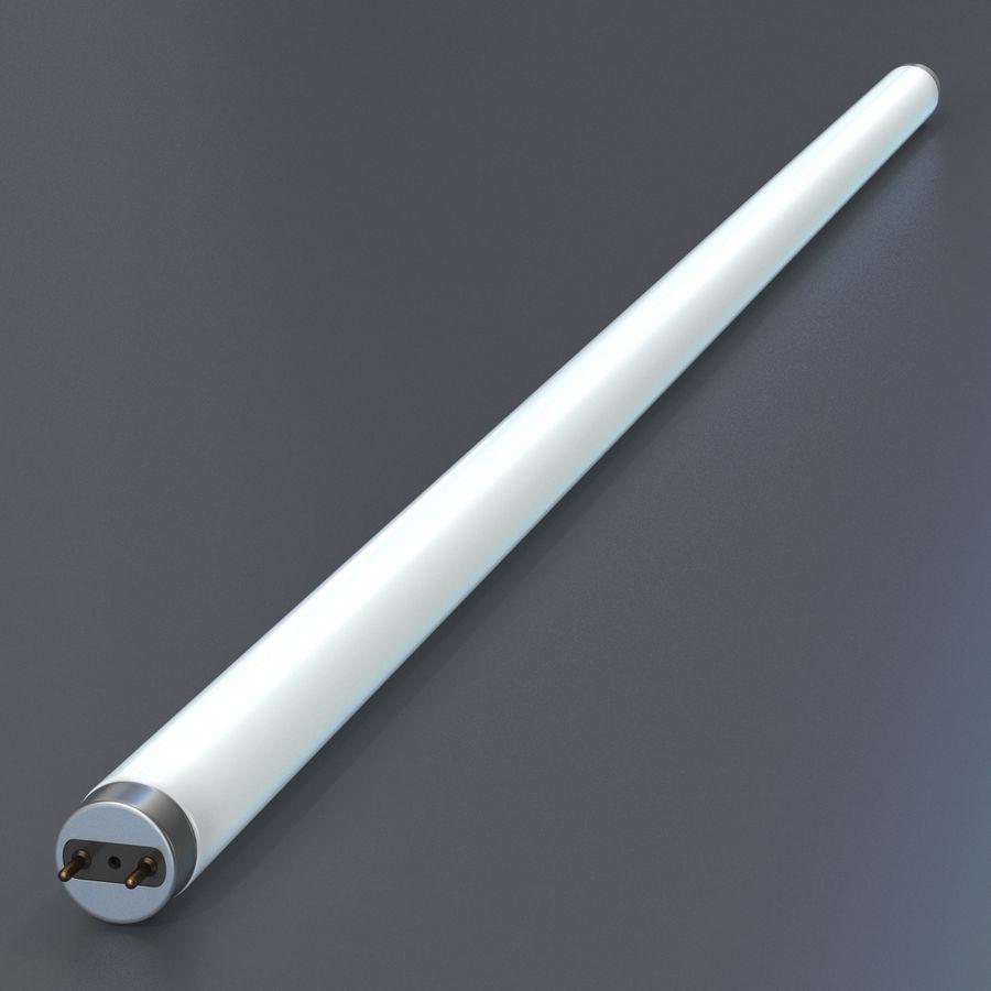Bombilla fluorescente de luz de tira royalty-free modelo 3d - Preview no. 3