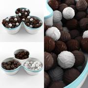 Skål och choklad 3d model