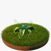 Blaue Blume 3d model