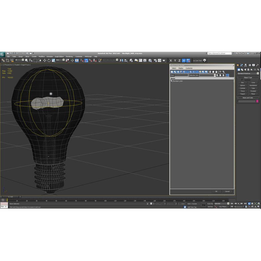 Bombilla de luz negra royalty-free modelo 3d - Preview no. 15
