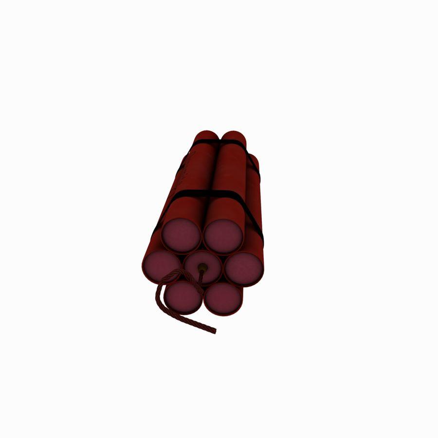 Cartoon Dynamite Bomb royalty-free 3d model - Preview no. 9