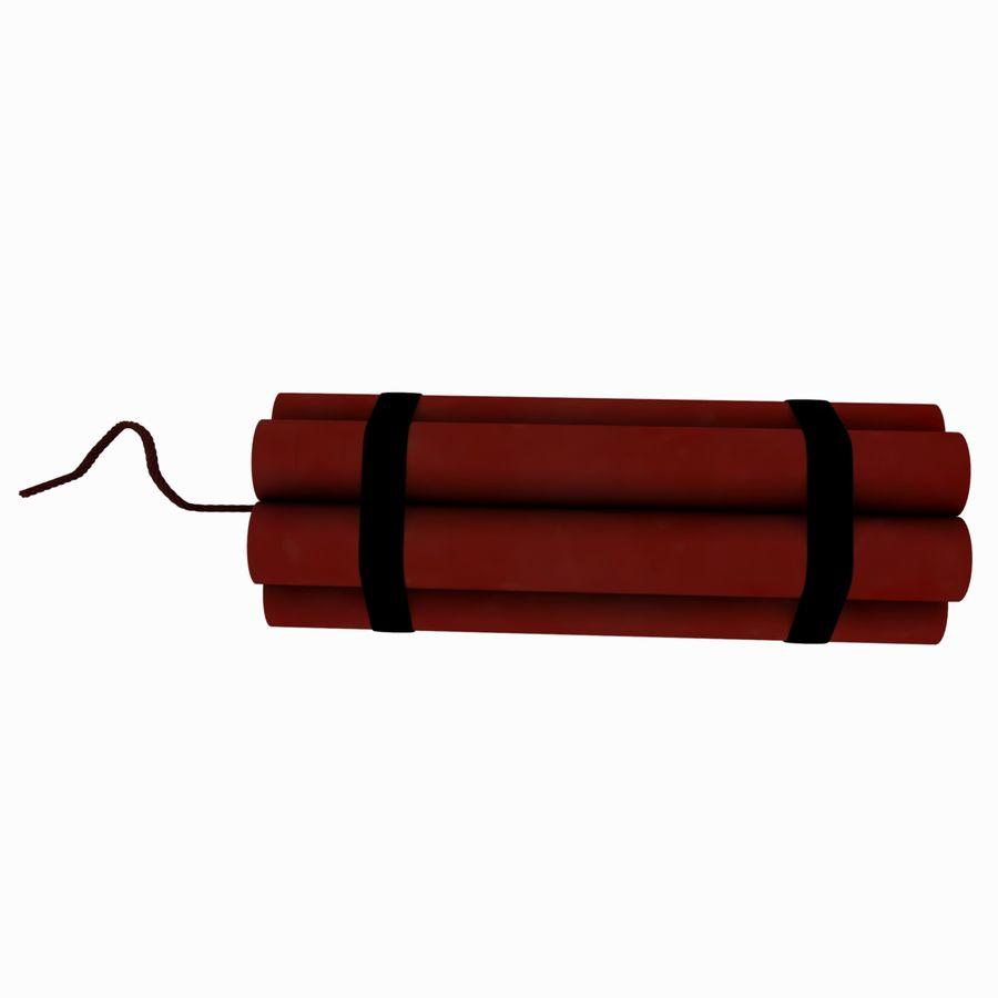 Cartoon Dynamite Bomb royalty-free 3d model - Preview no. 8