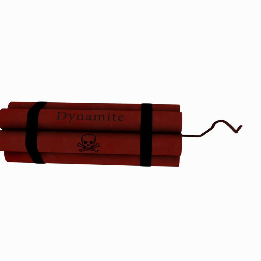 Cartoon Dynamite Bomb royalty-free 3d model - Preview no. 5