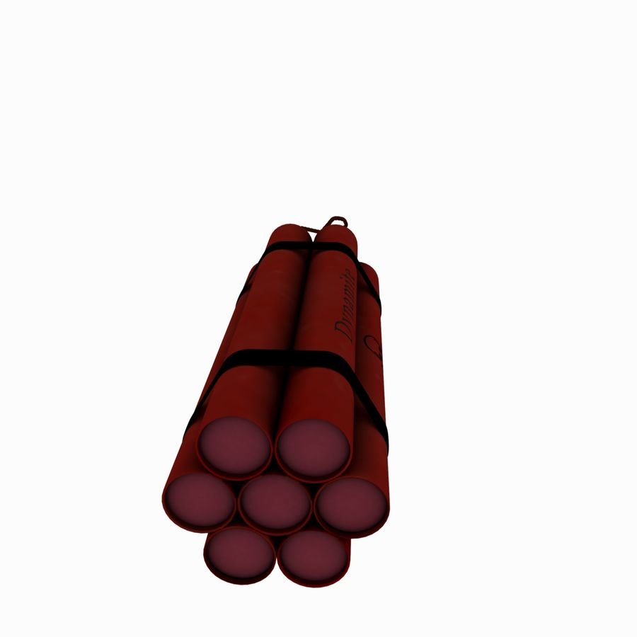 Cartoon Dynamite Bomb royalty-free 3d model - Preview no. 7