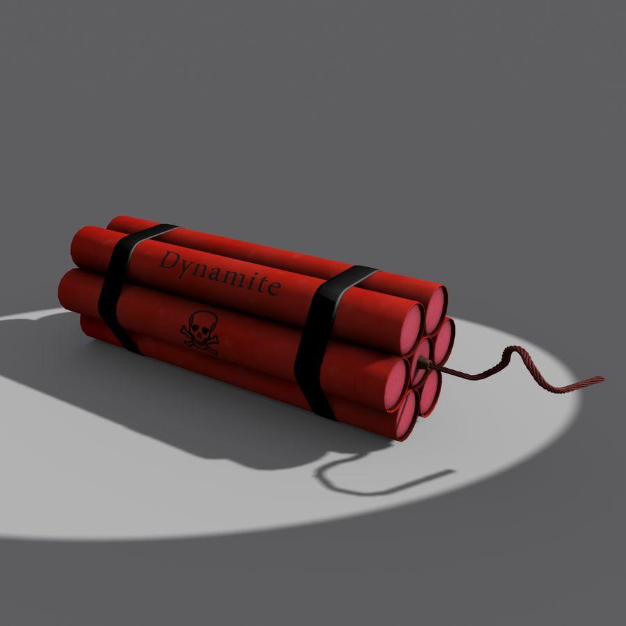 Cartoon Dynamite Bomb royalty-free 3d model - Preview no. 2