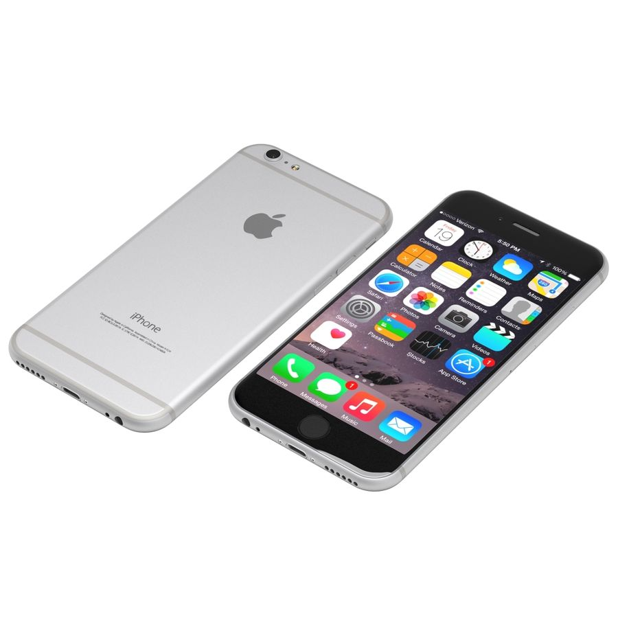 iPhone 6 royalty-free 3d model - Preview no. 1