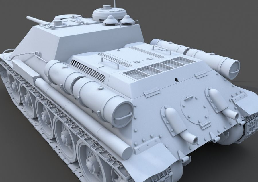 SU -100 royalty-free 3d model - Preview no. 2