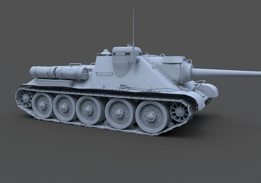 SU -100 royalty-free 3d model - Preview no. 5