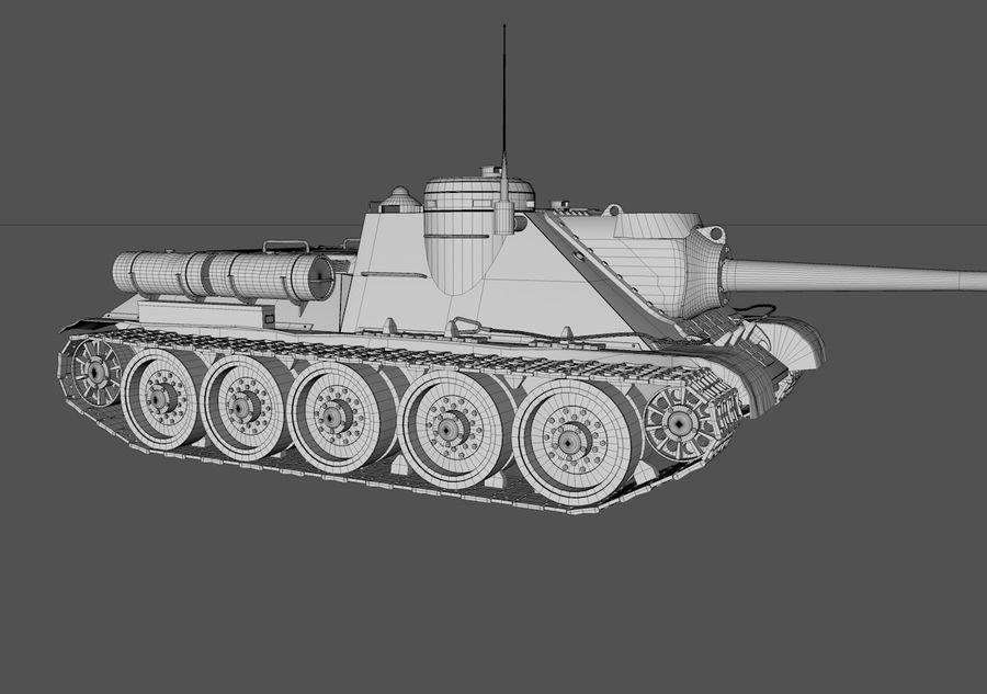 SU -100 royalty-free 3d model - Preview no. 6