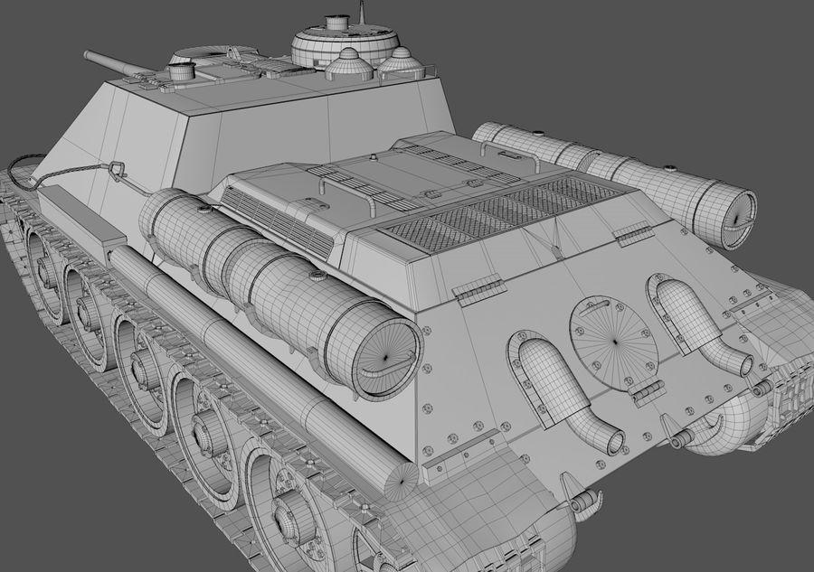 SU -100 royalty-free 3d model - Preview no. 3