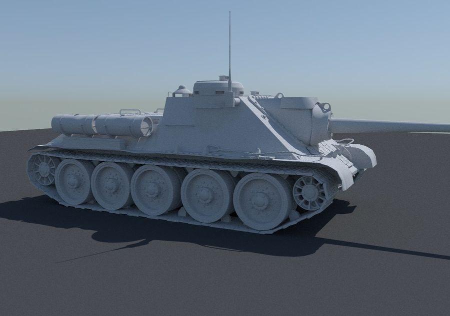 SU -100 royalty-free 3d model - Preview no. 8