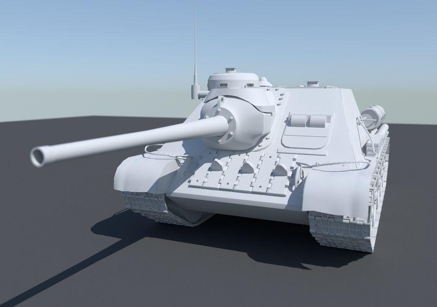 SU -100 royalty-free 3d model - Preview no. 7