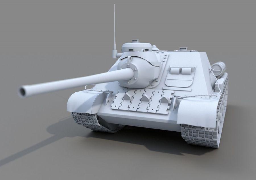 SU -100 royalty-free 3d model - Preview no. 1