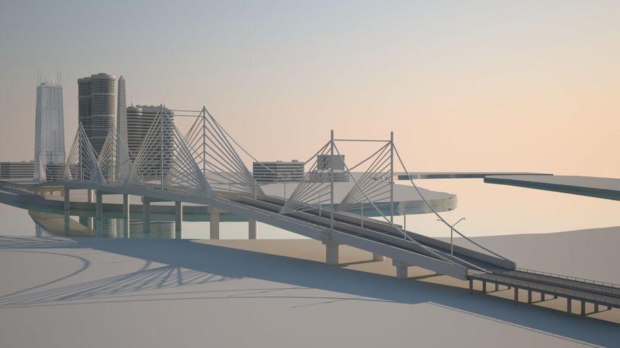 Город - вся сцена royalty-free 3d model - Preview no. 1