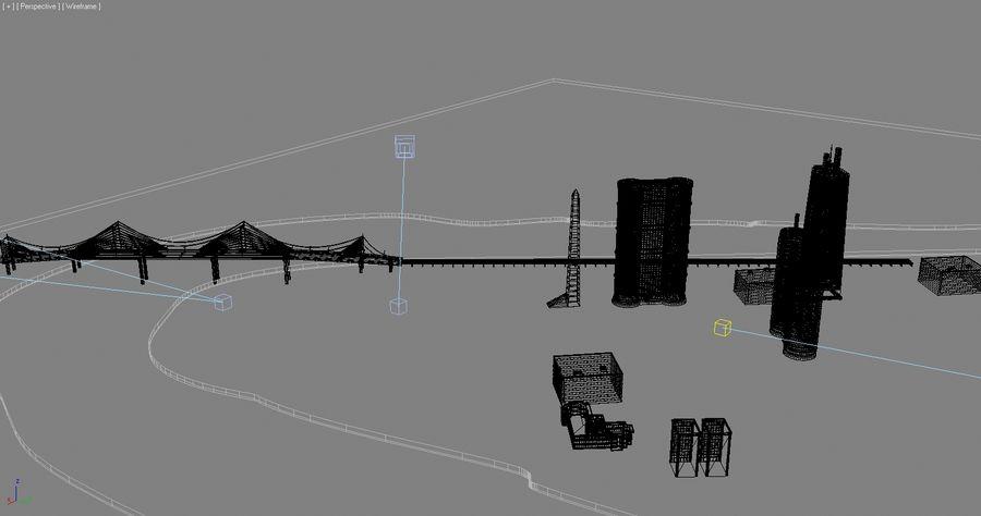 Город - вся сцена royalty-free 3d model - Preview no. 7