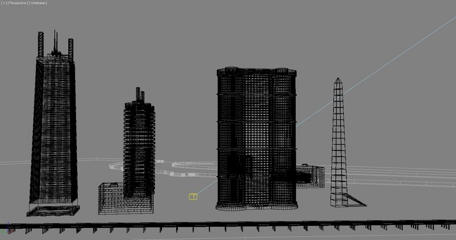 Город - вся сцена royalty-free 3d model - Preview no. 6