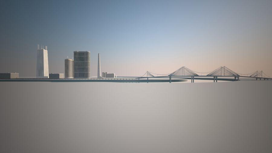 Город - вся сцена royalty-free 3d model - Preview no. 5