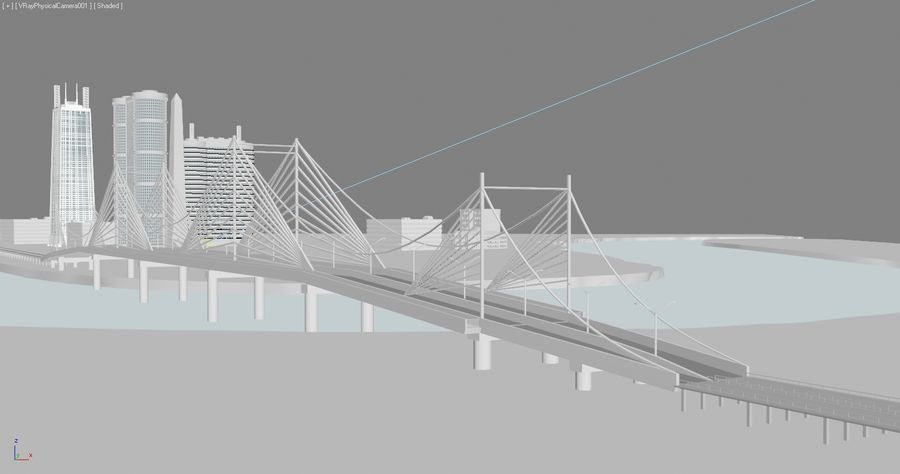 Город - вся сцена royalty-free 3d model - Preview no. 3