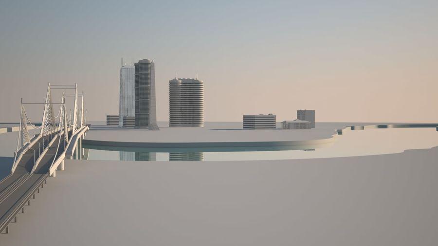 Город - вся сцена royalty-free 3d model - Preview no. 4
