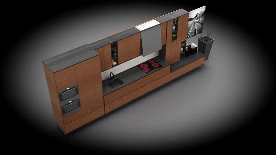 kök modernt royalty-free 3d model - Preview no. 4
