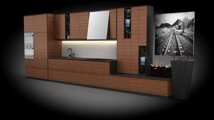 keuken modern royalty-free 3d model - Preview no. 2