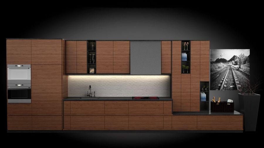 keuken modern royalty-free 3d model - Preview no. 3