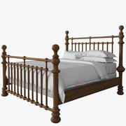 19TH C. KNOB BED 3d model