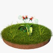 Blumen-Rot 3d model