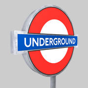 London Underground sign 3d model