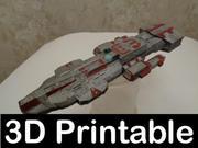 スターゲイトアトランティスエンシェントクルーザー3Dプリント可能キット 3d model