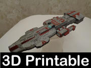 Stargate Atlantis Ancient Cruiser kit imprimible en 3D modelo 3d