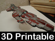 Stargate Aurora Schlachtschiff 3D-bedruckbares Kit 3d model