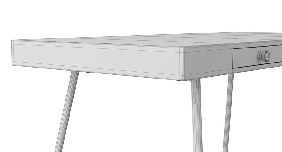 Biurko Ikea Lillasen royalty-free 3d model - Preview no. 15