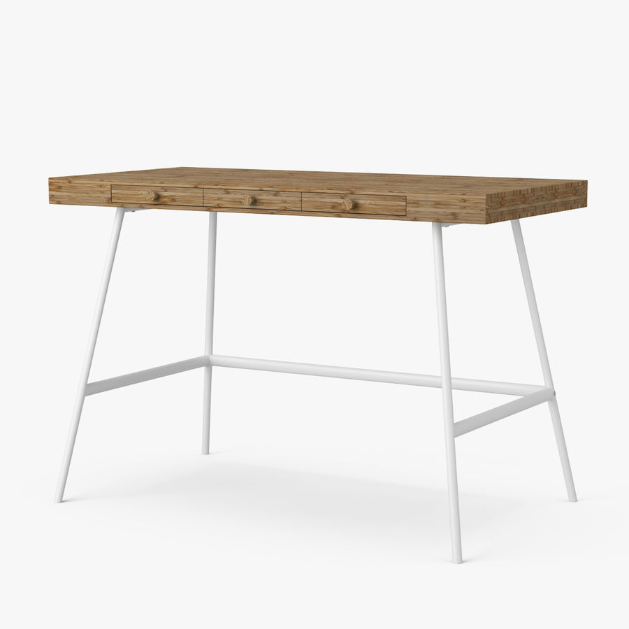 Biurko Ikea Lillasen royalty-free 3d model - Preview no. 2
